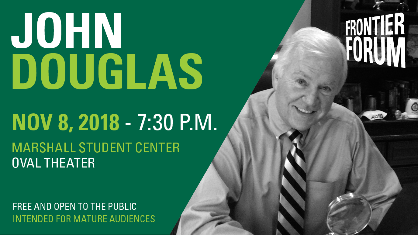 Public invited to USF Frontier Forum lecture series featuring former FBI profiler and best-selling author John Douglas