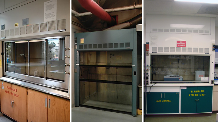 Conventional, Walk-in, and Perchloric Acid Fume Hoods