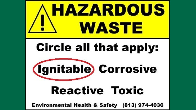 New Hazardous Waste Labeling