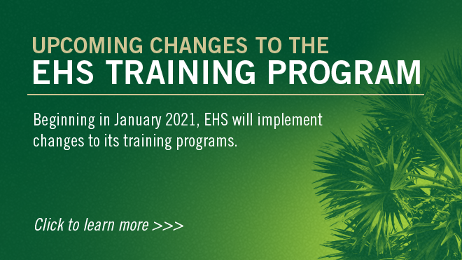 EH&S Training Changes