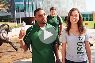 Two USF students narrate the Welcome to USF video.