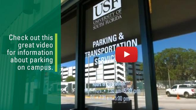 Picture of USF Parking & Transportation Services door.