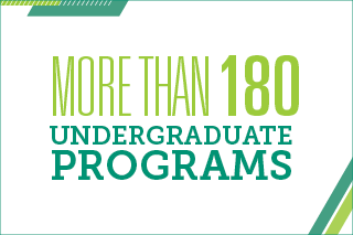 More than 180 undergraduate programs