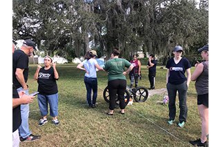 Dr. Diane Wallman, FPAN, students, and volunteers use Ground Penetrating Radar (GPR) to recover the location of missing burials at Whispering Souls African American Cemetery in Safety Harbor, FL