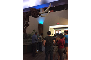 Students of Dr. Wallman's 2017 Archaeological Field School take a trip to the South Florida Museum to learn about local natural and cultural history