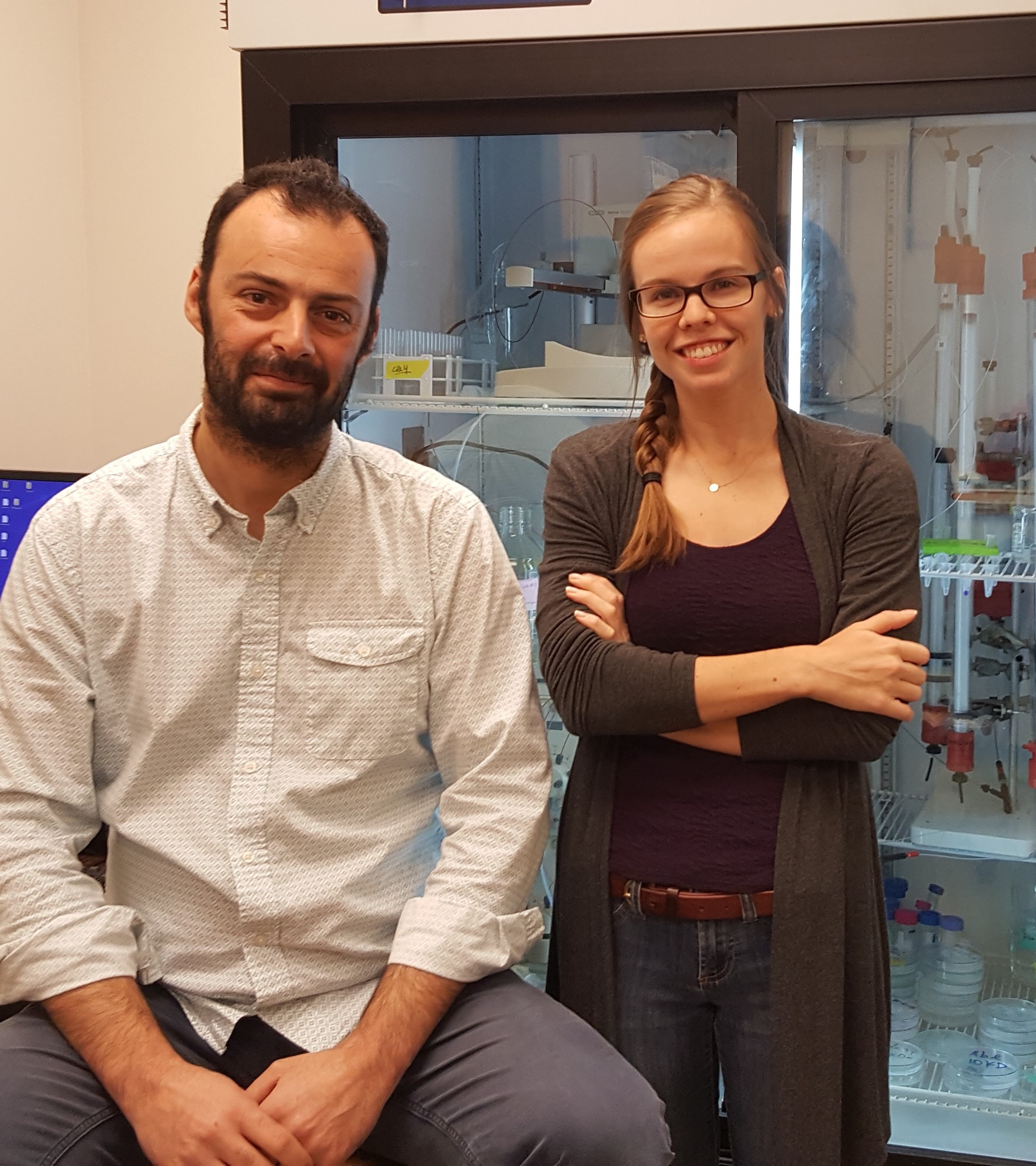 Prof. Ioannis Gelis and graduate student Ashleigh Bachman