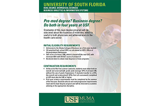 Preview: Dual BMS/Business Degree Flyer