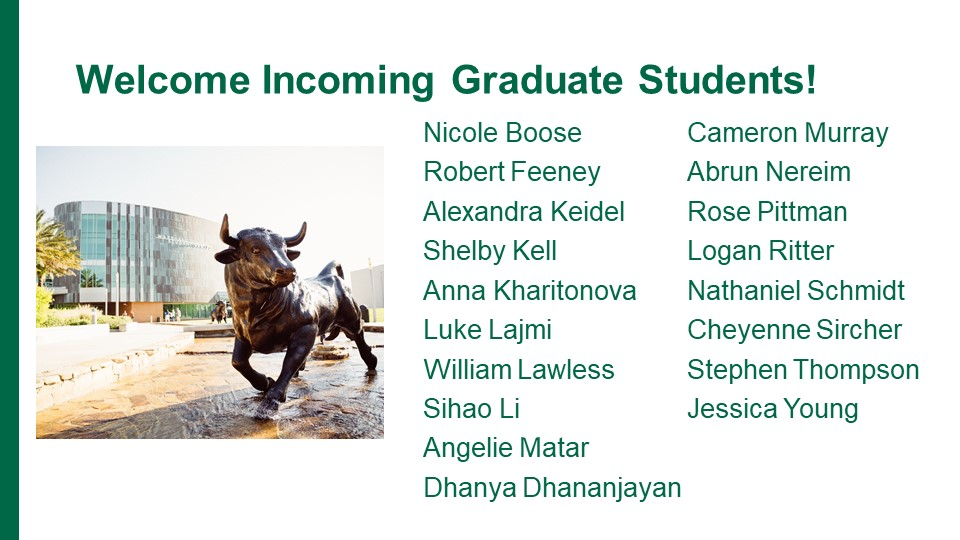 new graduate students