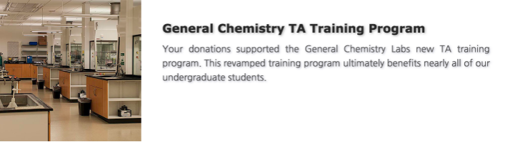 General Chemistry TA Training