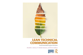 "Image shows cover of ""Lean Technical Communication"" textbook by Dr. Meredith Johnson"