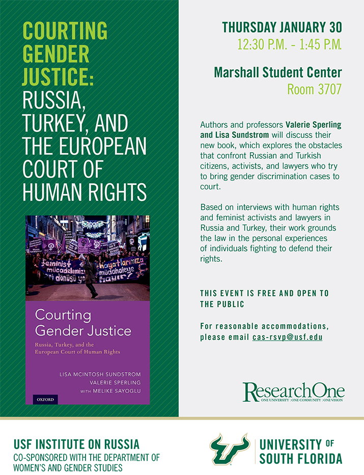 Courting Gender Justice: Russia, Turkey and the European Court of Human Rights