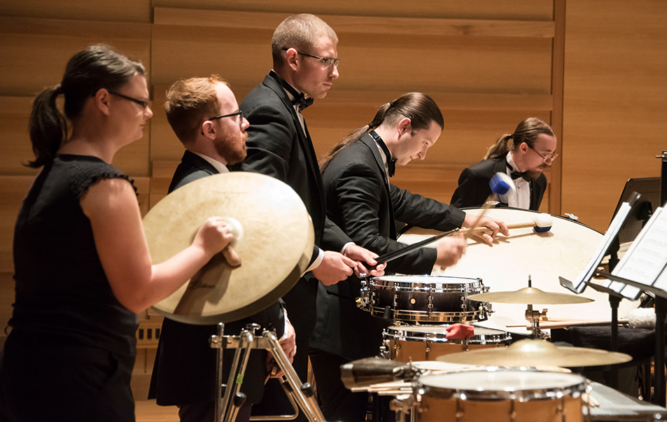 Percussion section for the USF Wind Ensemble