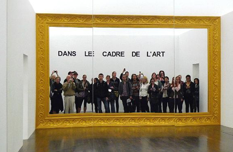 Art Students and faculty visiting an art gallery in Paris