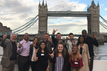 Group of USF students in London
