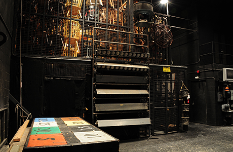 Back stage of Theatre 1 venue.