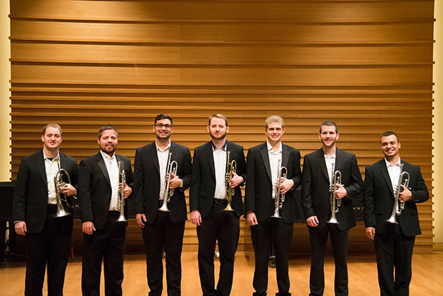 USF trumpet players who attended the 2017 National Trumpet Competition
