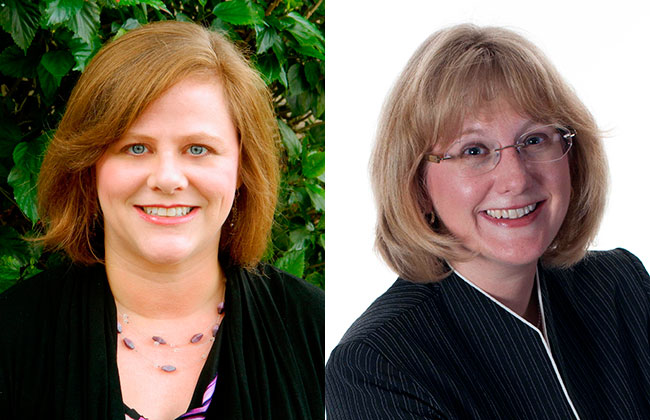 Portraits of Dr. Jerri Edwards (left) and Dr. Jennifer Bugos (right)