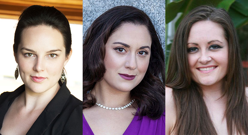 pictured from left to right in separate headshots are Sarah Coit, Courtney Elvira, and Phoenix Gayles