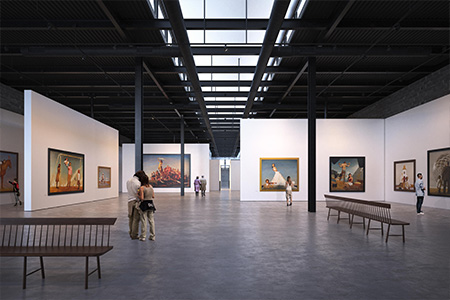 Olson Kundig is designing The Bo Bartlett Center, an adaptive reuse project that will transform a former textile warehouse into an 18,425 square foot gallery and learning center.
