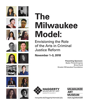 "poster for ""The Milwaukee Model: Envisioning the Role of the Arts in Criminal Justice Reform"" symposium"