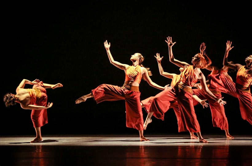 Dancers perform in the Fall Dance Concert.