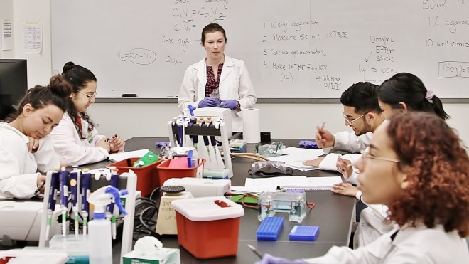 Professor Beth Jones-Mason leading a lab session.