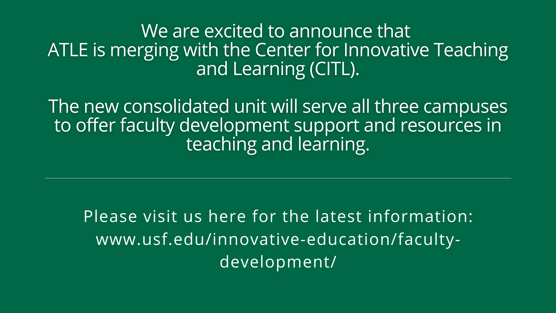 CITL announcement