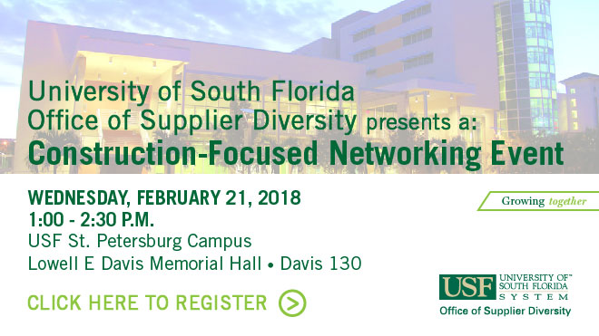 USFOSD Construction-Focused Networking Event