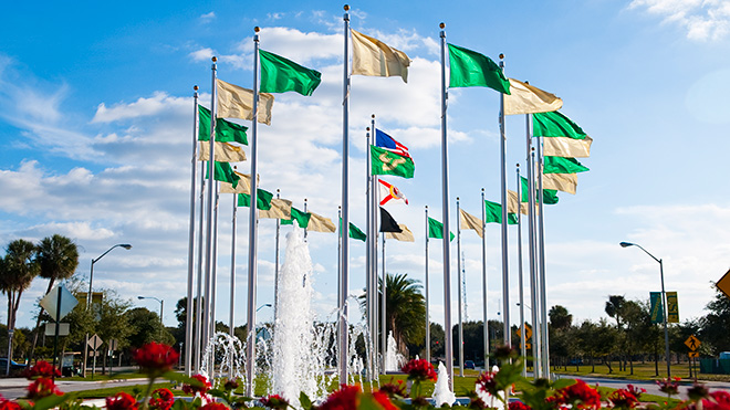 USF Flags and Fountains