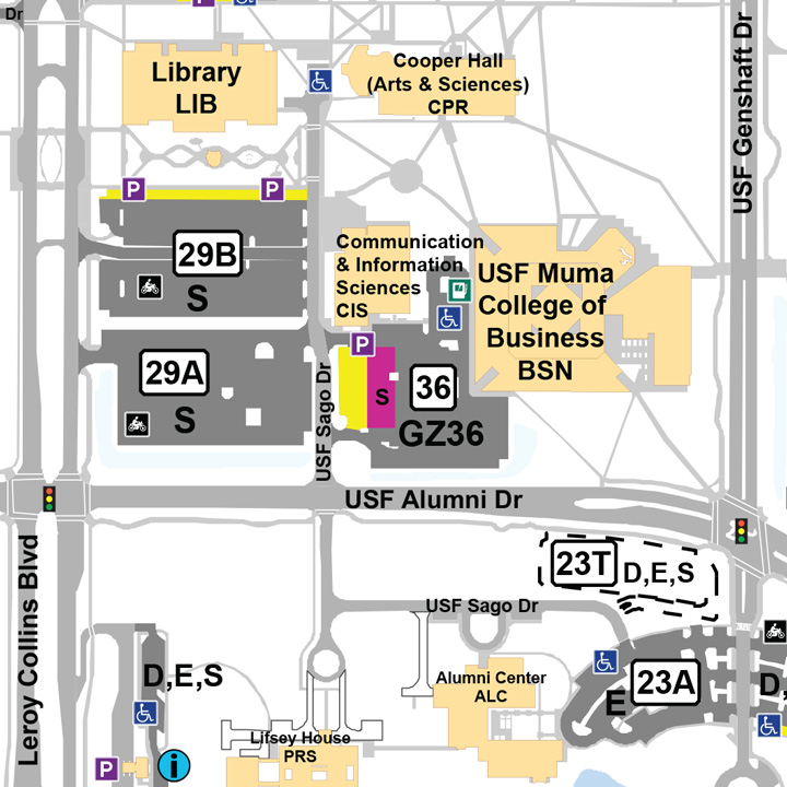 Tampa campus map