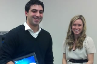 Ashley Macaluso represents Bayshore Solutions as a guest lecturer