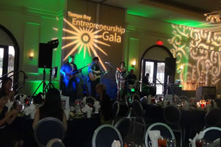 Band playing at the gala