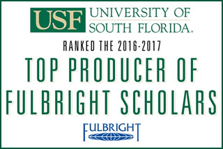 Ranked the 2016-2017 Top Producer of Fulbright Scholars