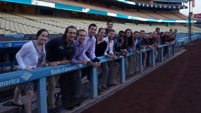 Sport and Entertainment Management Students Spend Time in the City of Angels, Visit Dodger Stadium