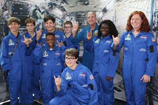 Astronaut Don Thomas with middle school students