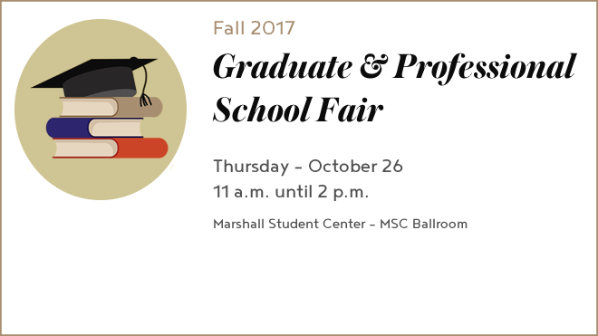 Logo for the Graduate and Professional School Fair