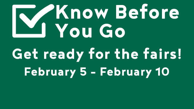 Graphic promoting the Know Before You Go Series
