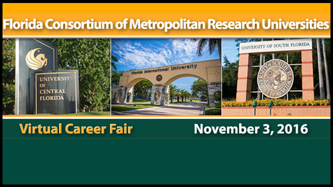 Our annual Fall virtual career fair returns on November 3, 2016.