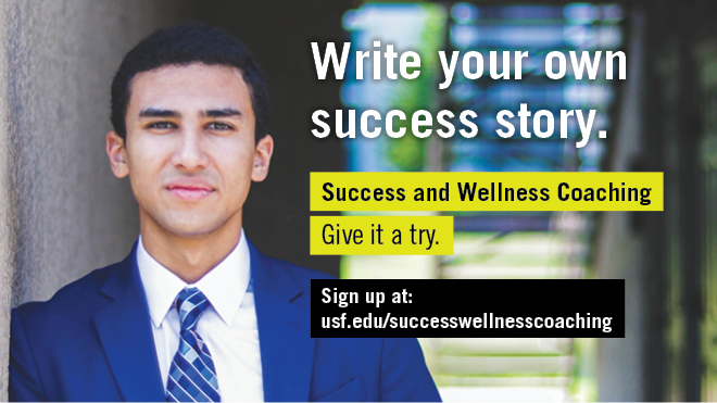 Graphic promoting Success & Wellness Coaching