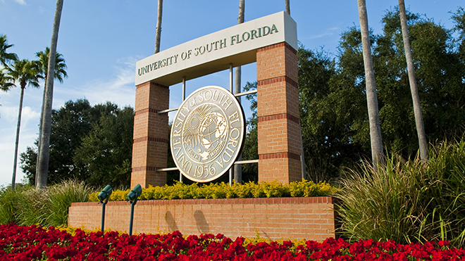 Picture of the USF entrance.