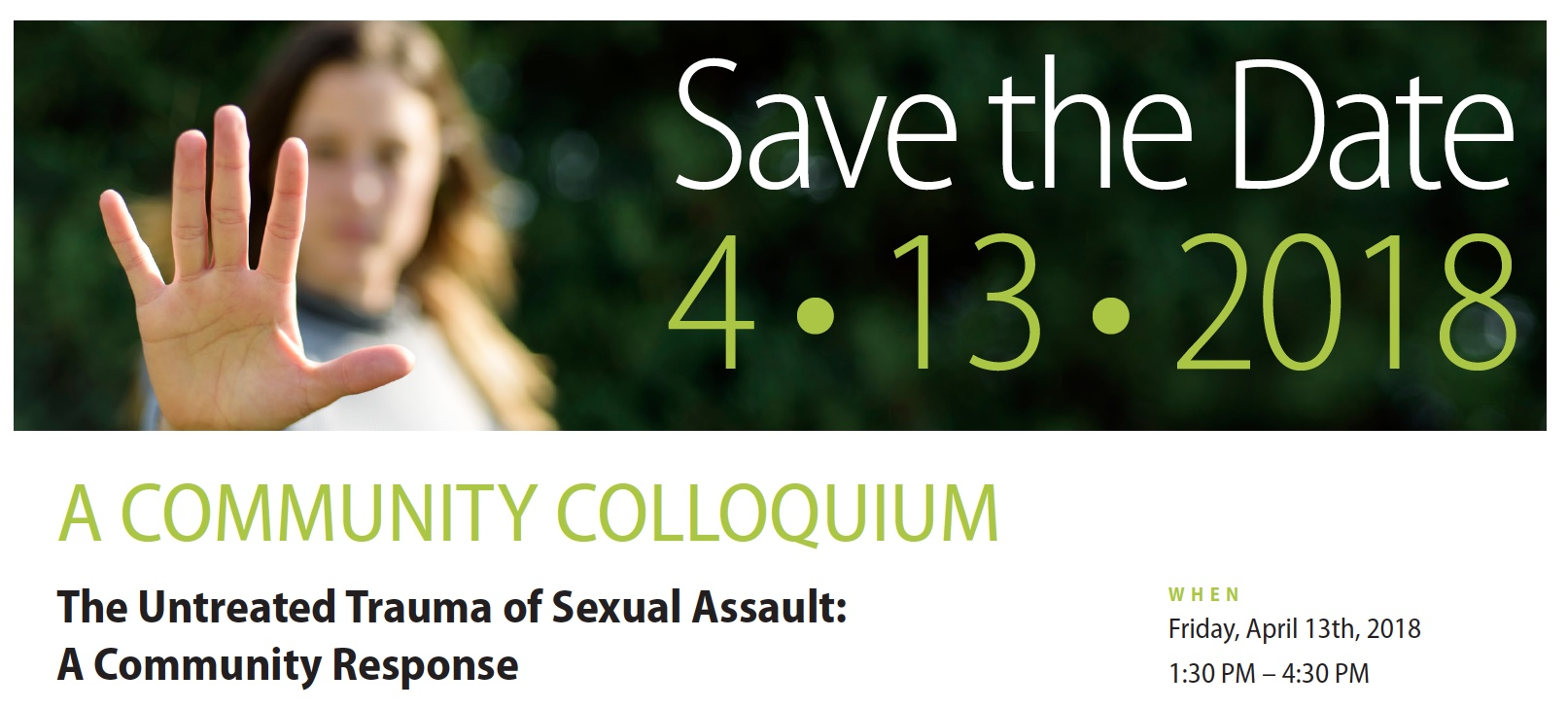 The Untreated Trauma of Sexual Assault: A Community Response