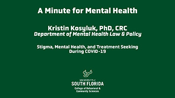 Stigma, Mental Health, and Treatment Seeking During COVID-19