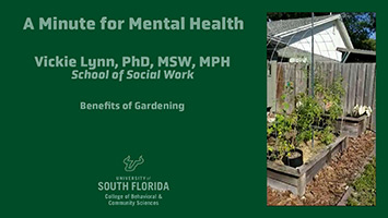 A Minute for Mental Health: The Benefits of Gardening