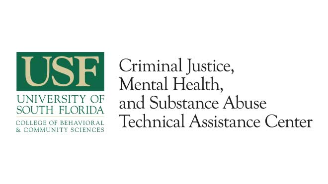 This image is the logo of USF's Criminal Justice, Mental Health, and Substance Abuse Technical Assistance Center.