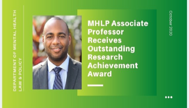 MHLP Professor Receives Outstanding Research Achievement Awards