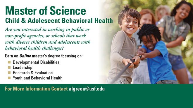 master of science child and adolescent behavioral health
