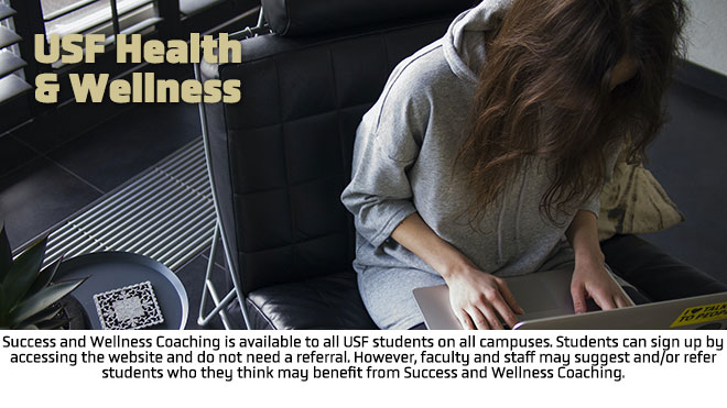 USF Success and Wellness Coaches are able to meet remotely