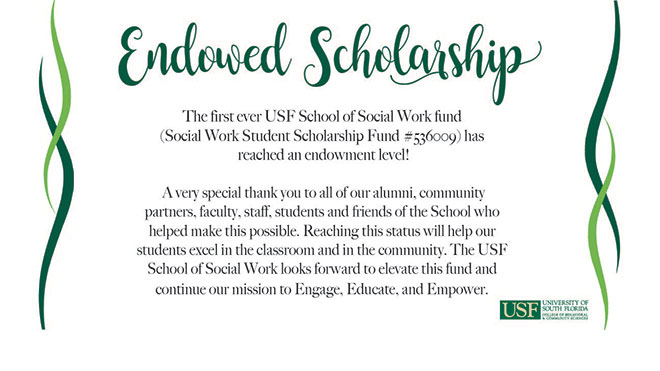 School of Social Work fund reaches endowment level