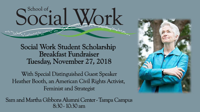 School of Social Work Student Scholarship Breakfast Fundraiser 2018