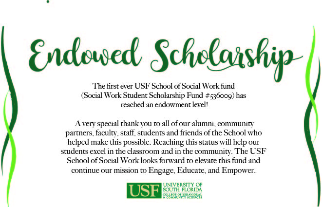 USF SOCIAL WORK STUDENT SCHOLARSHIP FUND
